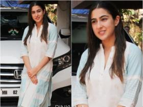 Sara Ali Khan rocks her no makeup look with a traditional attire as she gets snapped outside her Pilates class