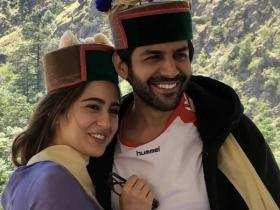 Sara Ali Khan and Kartik Aaryan\'s sizzling chemistry is UNMISSABLE in these pics; Check it out