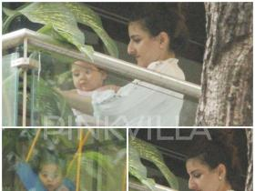 Inaaya Naumi Kemmu looks adorable as she chills on a swing, view PIC