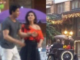 Dilwale! The most loved on-screen couple SRK and Kajol shoot for a romantic scene!