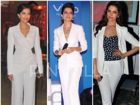 Fashion Spotlight : Crisp white Pant Suits!