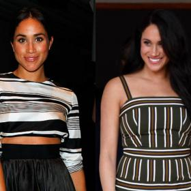 Celebrity Style,Meghan Markle,stripes,Meghan markle striped dresses