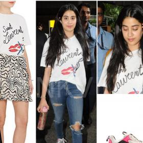 Celebrity Style,airport,airport style,Saint Laurent,Balenciaga,Airport Fashion,Janhvi Kapoor