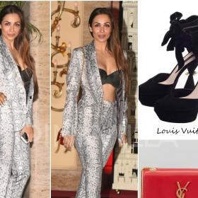 Celebrity Style,louis vuitton,Malaika Arora Khan,falguni and shane peacock,YSL