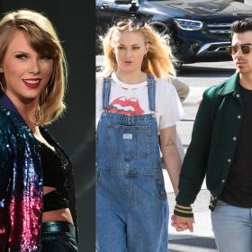 taylor swift,Sophie Turner,Joe Jonas,Hollywood,Folklore