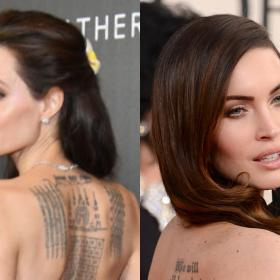 Celebrity Style,Angelina Jolie,tattoo,megan fox