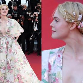 Celebrity Style,cannes,Valentino,Elle Fanning,Cannes 2019,cannes red carpet