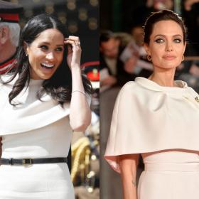 Faceoffs,Angelina Jolie,Meghan Markle,white cape dress