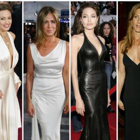 fashion,Faceoffs,Faceoff,Angelina Jolie,Jennifer Aniston