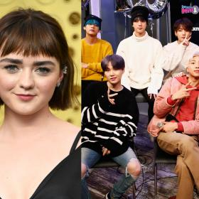 maisie Williams,BTS,Hollywood,Jungkook