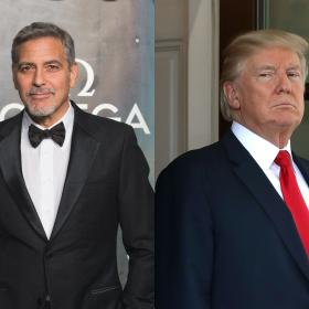 george clooney,donald trump,Hollywood