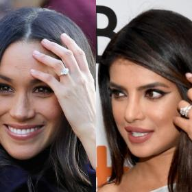 Celebrity Style,Priyanka Chopra,Meghan Markle,Engagement ring,wedding ring