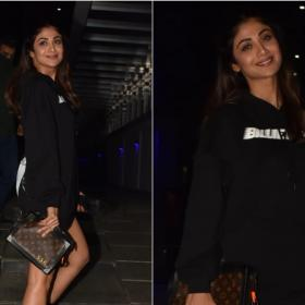 Celebrity Style,shilpa shetty,louis vuitton,Hoodie