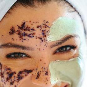 Beauty,mud face pack,coffee face mask