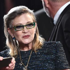 Carrie Fisher,Stephen Colbert,The Late Show with Stephen Colbert,Hollywood,Star Wars: The Rise of Skywalker,J.J. Abrams