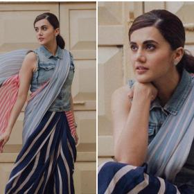 Celebrity Style,saree,Taapsee Pannu,mission mangal