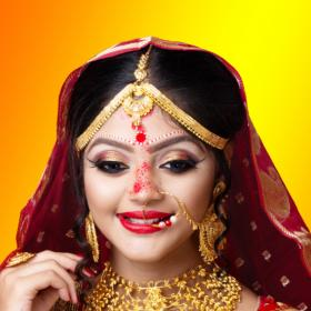 Weddings,bridal makeup,Bengali Bridal Look