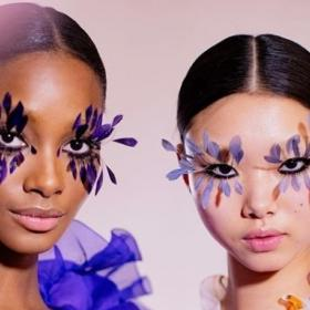 Valentino,Beauty,feather lashes,couture show