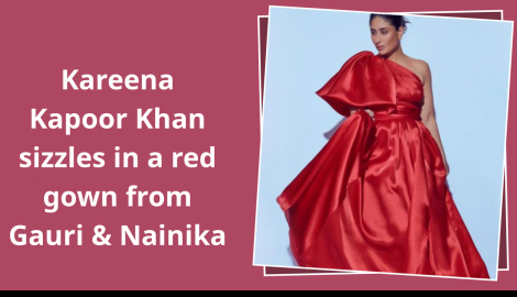 Kareena Kapoor Khan stuns in a red outfit by Gauri and Nainika; Check it out