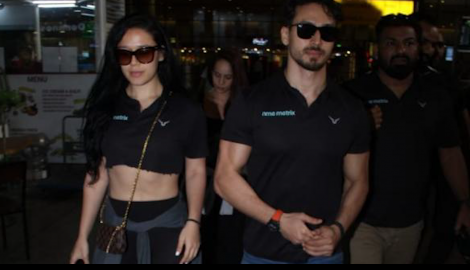 Tiger Shroff and his sister Krishna get snapped; Parineeti Chopra spotted at the airport