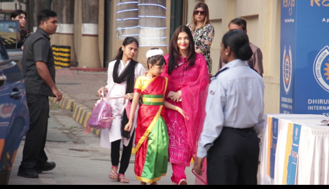 Aaradhya Bachchan shines in a traditional outfit at her school annual day function