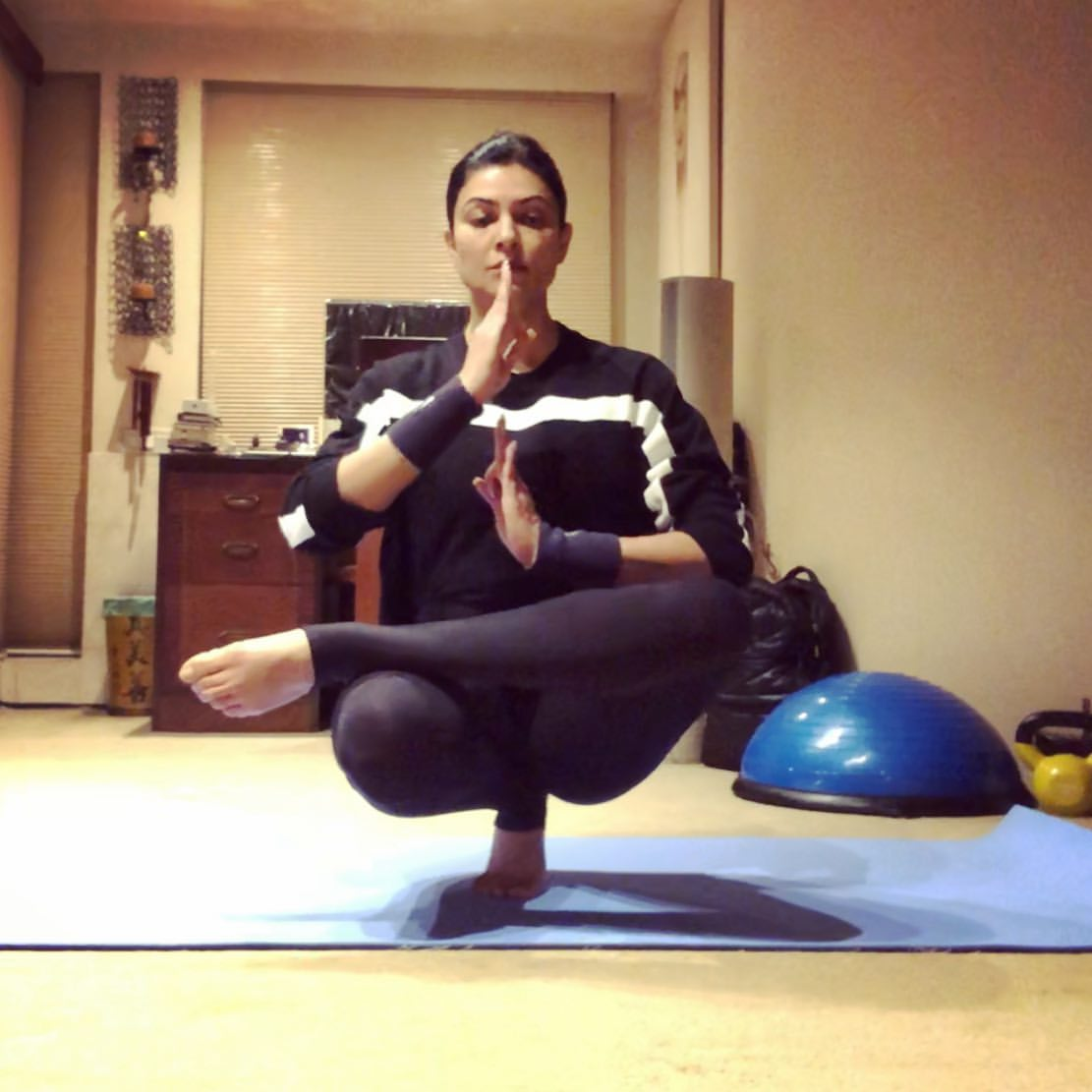 Sushmita Sen Inspires Her Fans As She Shares Yoga Poses To Stay Active During The Coronavirus Lockdown Pinkvilla