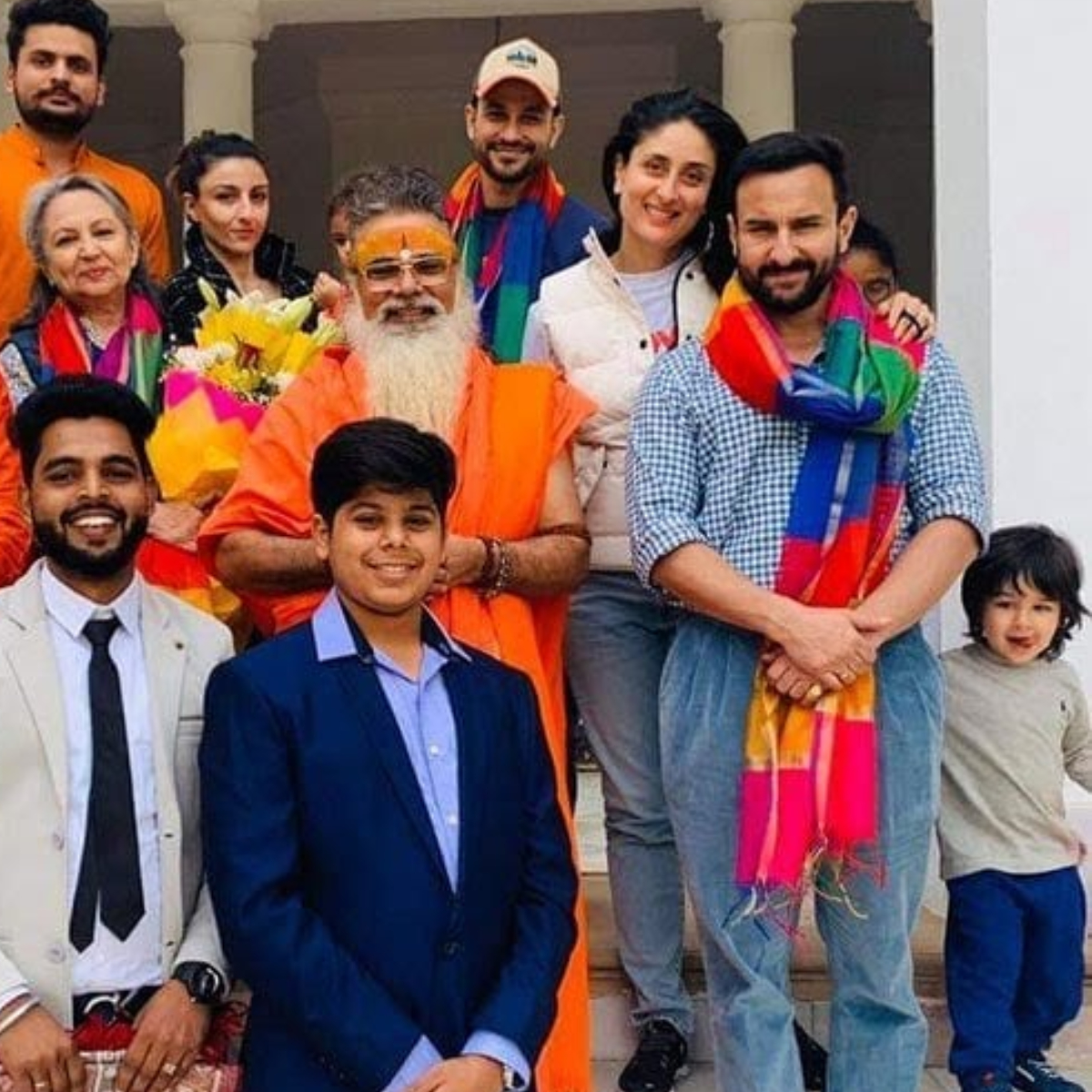 Taimur Ali Khan is the happiest kid as he poses for a family portrait at Pataudi Palace; View Pic