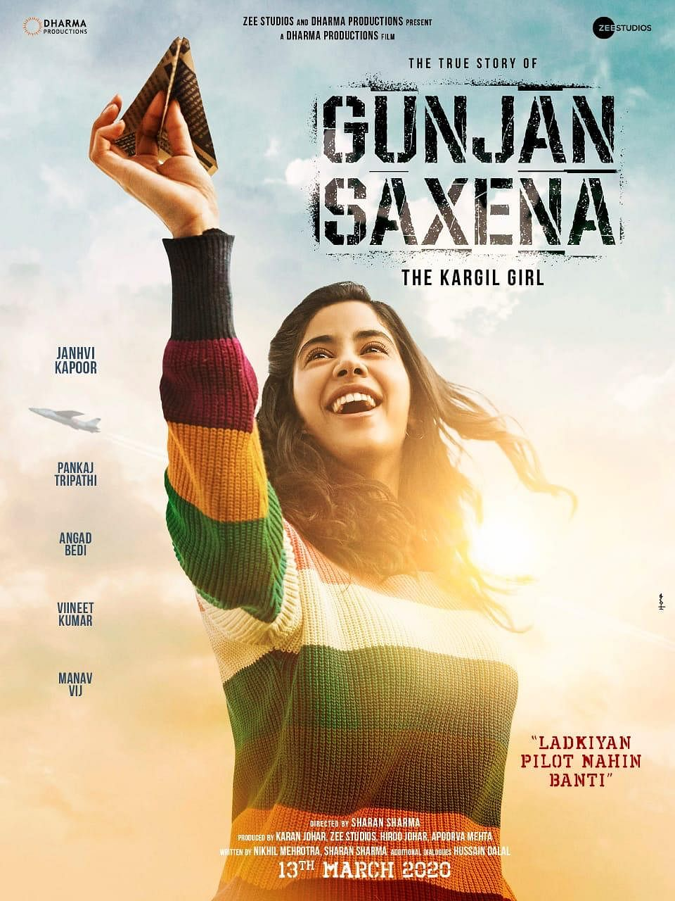 Gunjan Saxena The Kargil Girl Movie Review Janhvi Kapoor Pays An Honest Tribute Despite Turbulence Pinkvilla