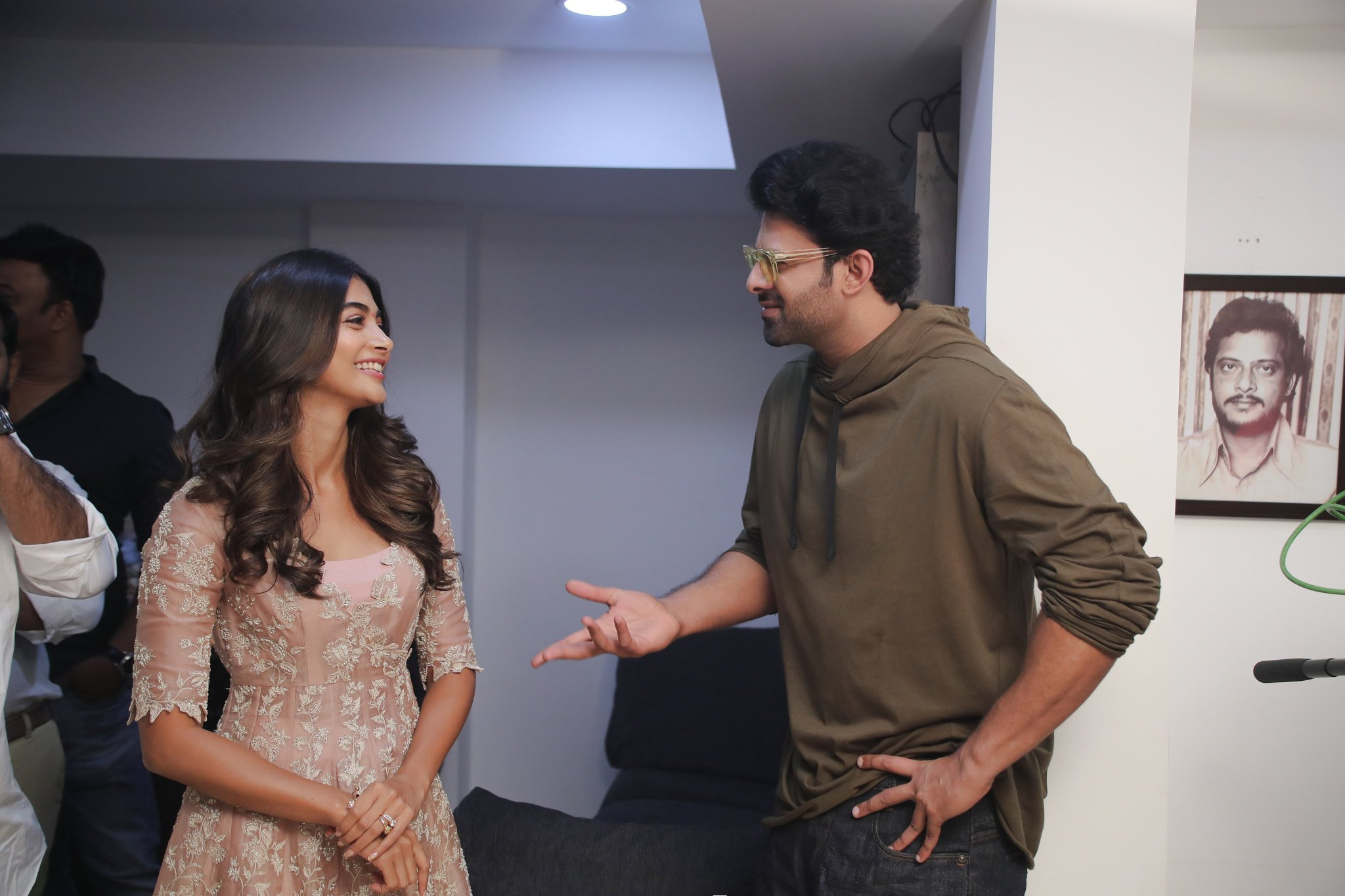 Throwback Prabhas Pooja Hegde S Candid Moments From Launch Of The Next Film Go Viral Fans Demand First Look Pinkvilla