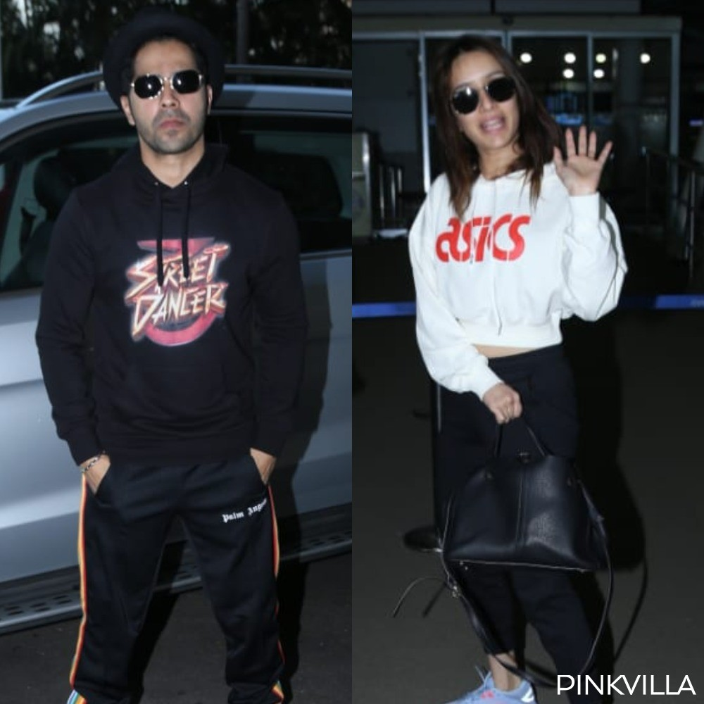 Varun Dhawan, Shraddha Kapoor opt for cool hoodies as they head out of Mumbai for Street Dancer 3D promotions