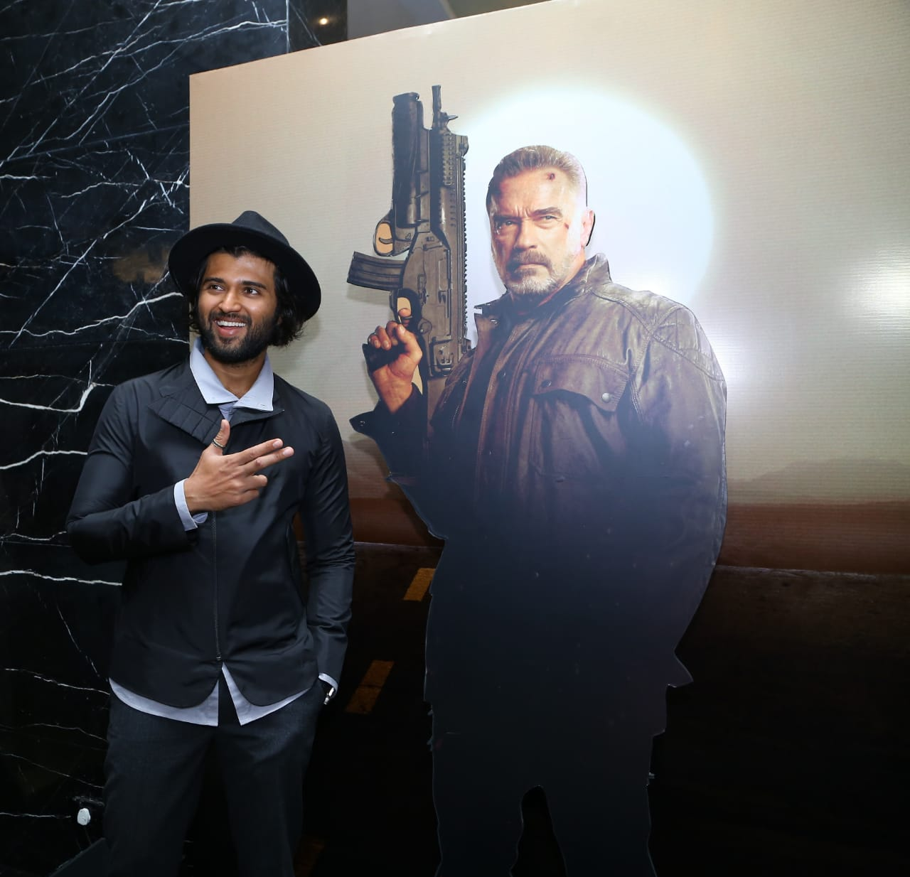 Vijay Deverakonda channels his inner 'cool dude' look in semi casuals at Terminator Dark Fate trailer launch