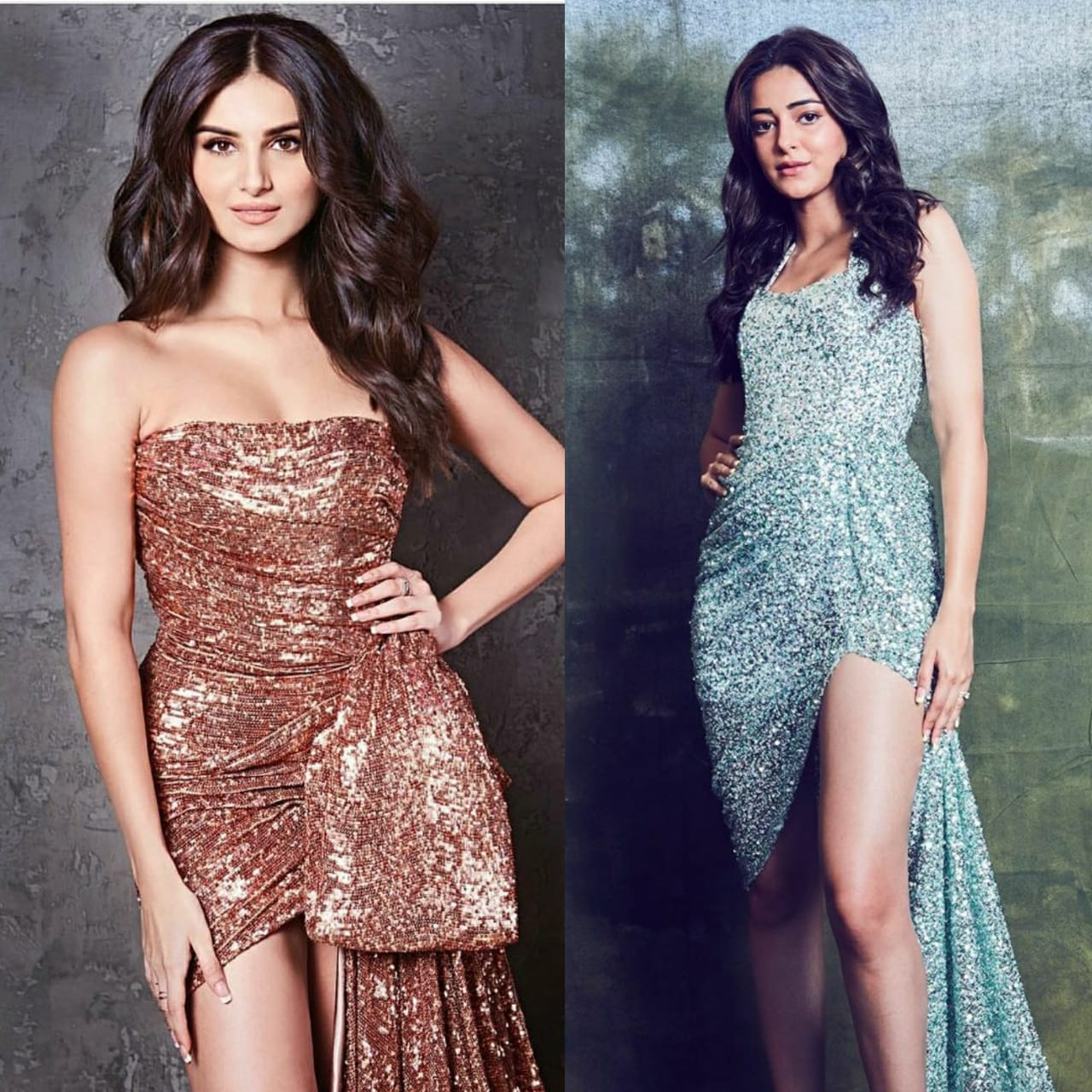 Fashion Faceoff: Ananya Panday or Tara Sutaria: Who wore the thigh high slit sequin gown better?