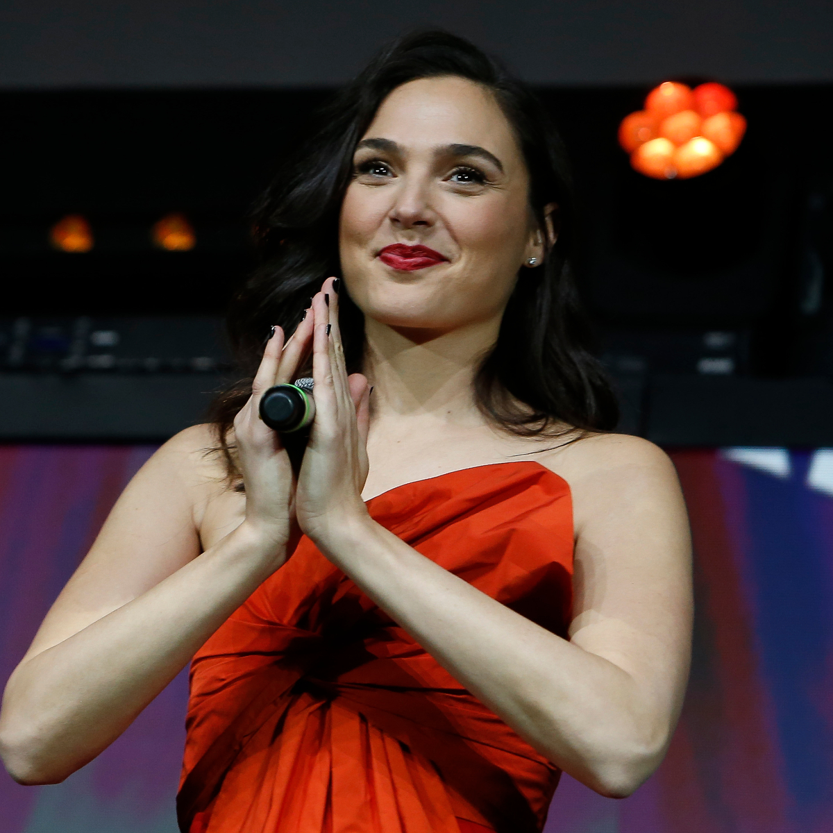 Wonder Woman 1984's Gal Gadot looks vivacious in a red number as promotes her movie at 2019 CCXP; View Pics